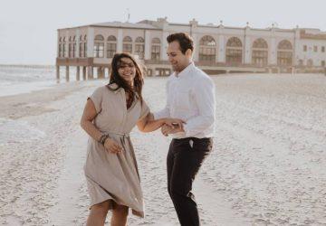 man och kvinna på stranden