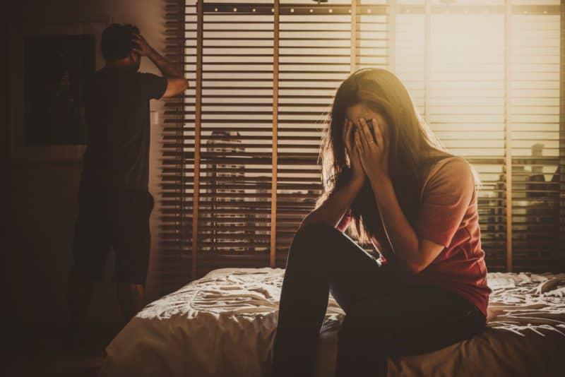 deprimerat par Man och hustru