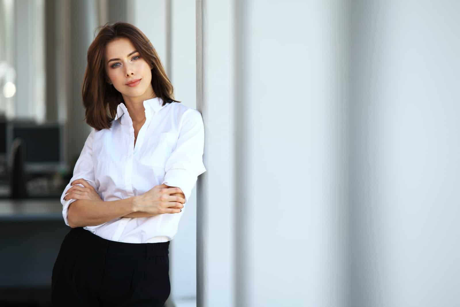affärskvinna på kontoret